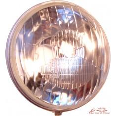 Optica redonda con cerquillo y luz posición