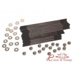 kit de 16 esparragos para culata 8mm largo de origen en CHROMOLY con arandelas y tuercas