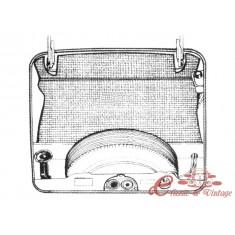 kit moqueta de maletero delantero en negro Type 3 61-70 (3pcs)