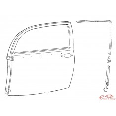 Guia de corredera de contorno de vidrio izq 8/72- (montable -7/72 con modificaciones)