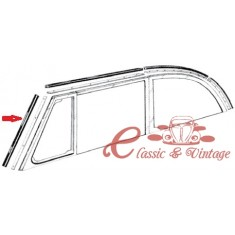 Set de 2 juntas verticales de ventanales de parabrisas cabriolet 52-64