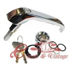 Maneta de puerta corrediza 68-7/72 (con llave)