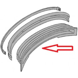 Panel de deformación detrás del parachoques 73 -