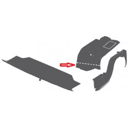Chapa de reparación der entre guardabarros y plancha 73-