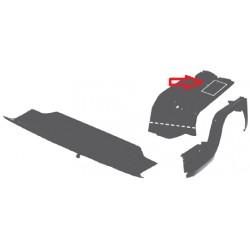 Chapa de fijación de cinturón izq