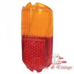 glace de feu arrière 56-59 orange et rouge