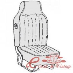 kit fundas de sillones negros 68-69 con reposacabezas incorporado