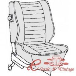 kit housses de sièges gris clair cabriolet 74-76 sans appuis-tête