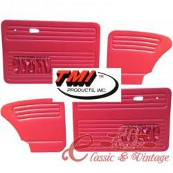 Set de 4 paneles rojos con bolsillo 67- TMI