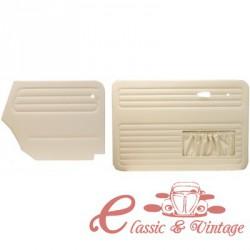 Juego de 4 paneles blanco marfil cabriolet 67-72
