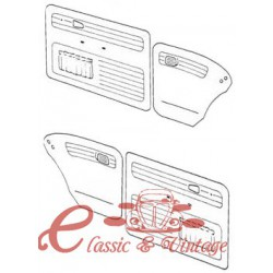 Set de 4 paneles de puerta gris claro con bolsillos 65-66 TMI
