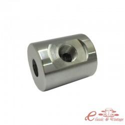 Adaptador de aluminio para manometro réf U120552 para racords NPT