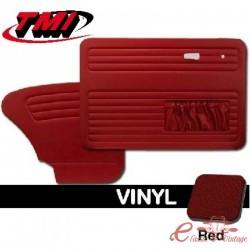 Set de 4 paneles de puerta con bolsillos rojo 65-66 TMI