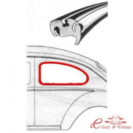 Junta de vidrio lateral izquierdo 53-7/64 (para moldura de metal)