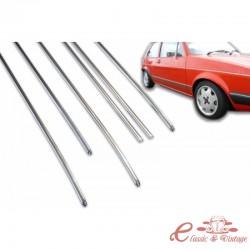 Set de 6 molduras de aluminio Golf 1 3 puertas y cabriolet