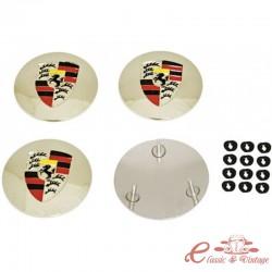 Set de 4 centros con logo STUTTGART para tapacubos style 356