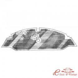Tapiceria caucho delantera 8/72- (vehiculo caja manual )