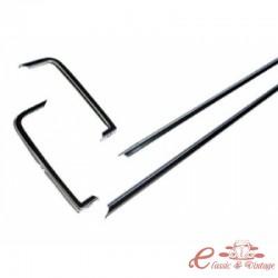 """Set de 4 molduras de aluminio""""GLS"""" para Golf 1"""