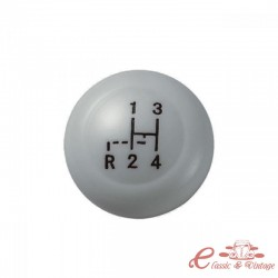 Pomo de palanca de cambios Vintage Speed gris diametro 10mm