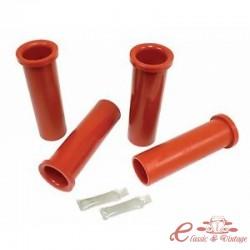 Set de 4 tubos rojos de uretano para tren delantero T2 64-67