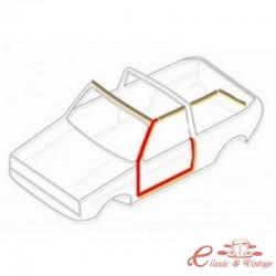 Junta de puerta izquierda Golf 1 Cabriolet -7/83
