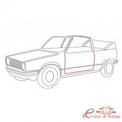 Junta de puerta izquierda para Golf 1 Cabriolet 8/83-7/93