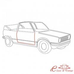 Junta de puerta derecha para Golf 1 Cabriolet 8/83-7/93