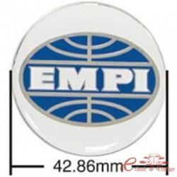 Juego de 4 adhesivos EMPI para tapacubos azul / blanco (diámetro 43 mm)
