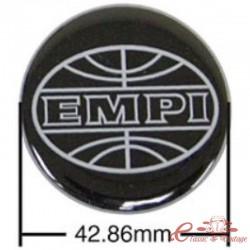 Juego de 4 pegatinas EMPI negras / grises para tapacubos (diámetro 43 mm)