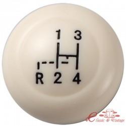 Pomo de la palanca de cambios VINTAGE SPEED marfil diámetro 10 mm
