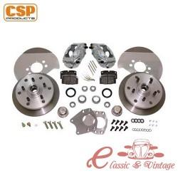 Kit freno de discos delantero CSP perforación en 5X130 para Porsche 356B