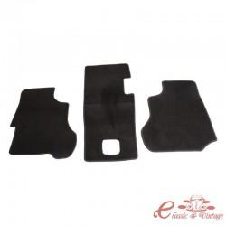 Alfombra de cabina negra de 3 piezas T25