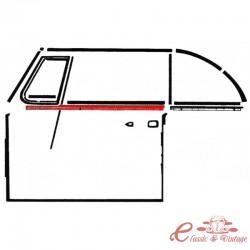 Escupeaguas exterior completo con moldura delantero izquierdo cabriolet. 65-79
