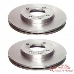 Kit de discos de freno delantero ventilado 239x20mm 2/74-7/83 GTI 1.6 y 1.8 ,8/83-10/91 GTI 8 V ,8/83-10/88 GTI 16 V