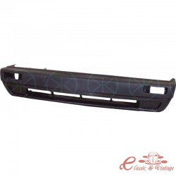 Parachoques delantero negro sin agujeros para Golf 2 8/89- faros antiniebla