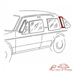 Junta para ventana de puerta trasera izquierda fija incluida para molduras de 5 puertas Golf 1