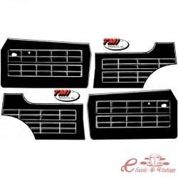 Set de 4 paneles de puerta 64-74 negros