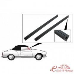 Juego de 2 juntas en pilares de parabrisas de Karmann Ghia cabriolet 57-74