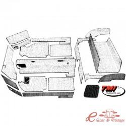 kit moqueta KG14 cabriolet 20 piezas negra 56-68
