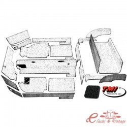 kit moqueta KG14 cabriolet 20 piezas negra 69-74