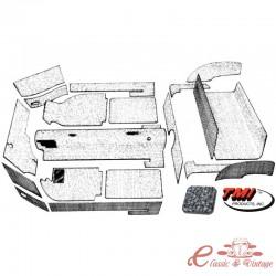 kit moqueta KG14 cabriolet 20 piezas gris 69-74