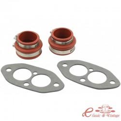 Kit completo de fuelles de admisión de goma roja para motores D/A