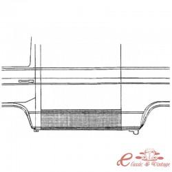 Umbral lateral izquierdo exterior Calidad superior