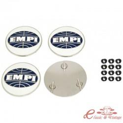 Juego de 4 centros con logo EMPI para tapacubos estilo 356