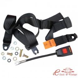 Cinturón de seguridad delantero negro manual (3 puntos de sujeción)