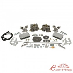"""Kit carburador LUXE doble EMPI """"D"""" 40mm para Tipo 3"""