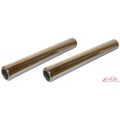 Set de 2 tubos silenciosos Inox 265mm