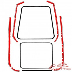 Kit de juntas de aletas (para las 4 aletas ) T3 notchback
