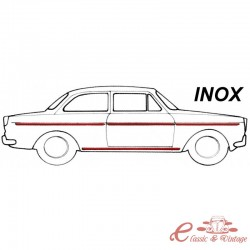 kit de moldura INOX (8 piezas ) 64-66 sin piloto lateral