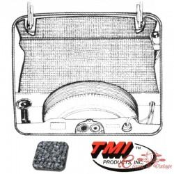 kit moquette de coffre avant grise Type 3 71-74 (5pcs)
